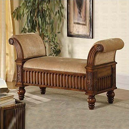Coaster Home Furnishings Transitional Bench, Tan
