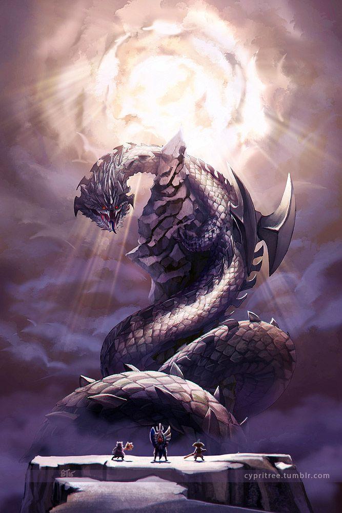 Dalamadur Elder Dragon By Cypritree On Deviantart Monster Hunter Art Monster Hunter World Wallpaper Monster Hunter