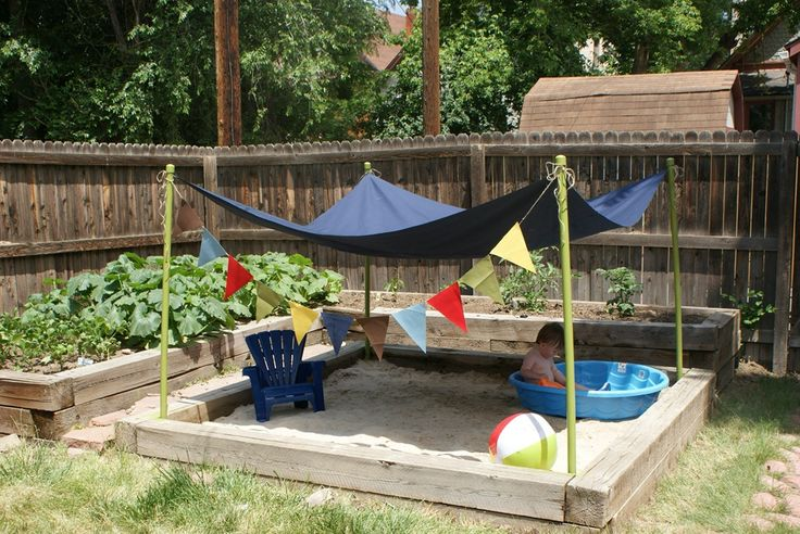 Backyard Sandbox : Backyard sandbox  Gardening  Pinterest