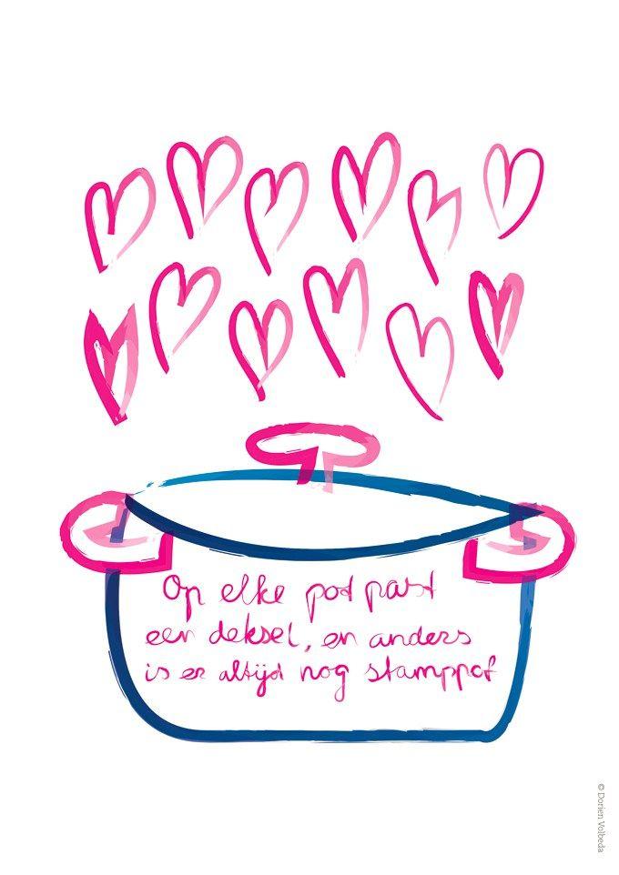 #dutchquote Op elke pot past een deksel // inspiring words for MommyInTheCity.nl \\