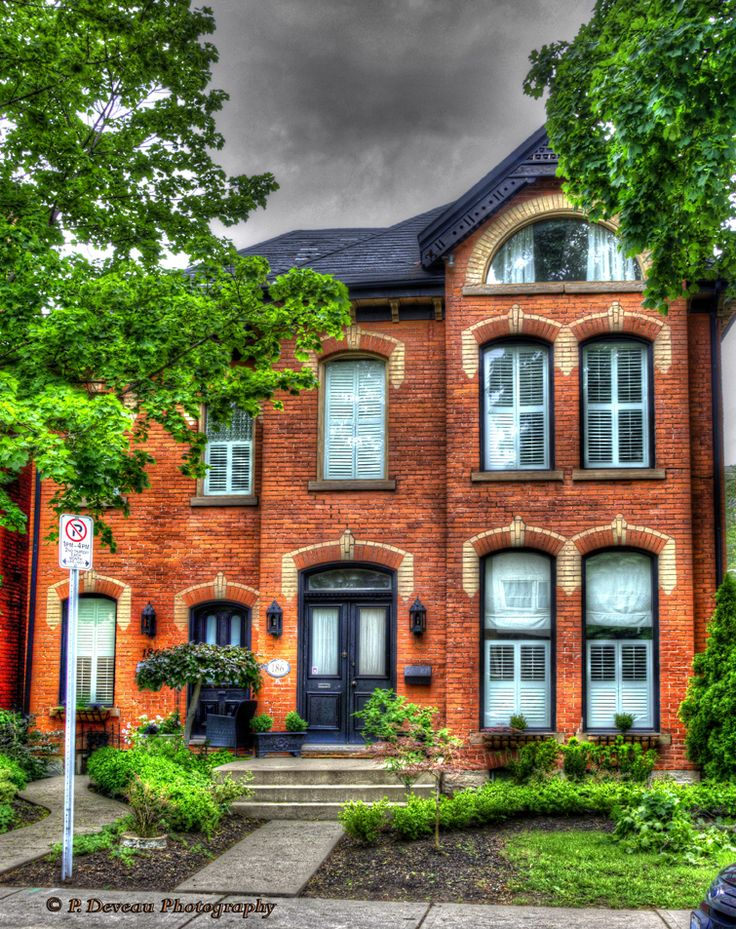 Duplex at the corner of Duke St. and Hess St., Hamilton, Ontario. Built circa 1894.