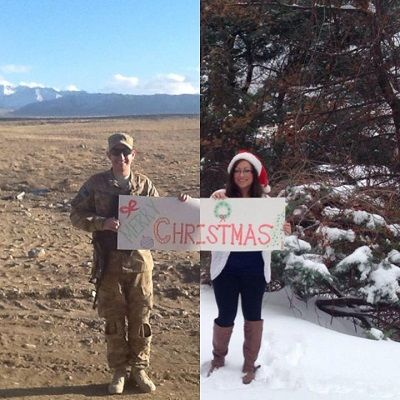 One Look at This Military Couple's Christmas Photo and You'll Know Why It's Gone Viral