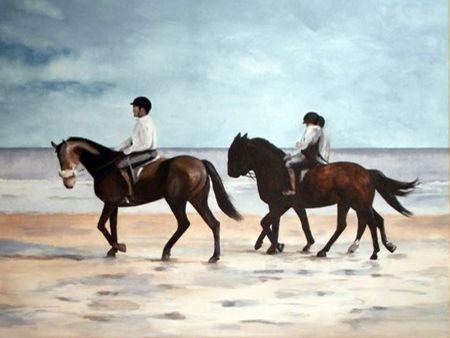 3 Reiter am Strand