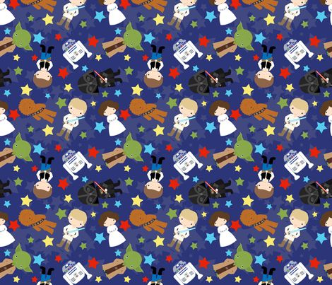 Star Wars  fabric by pink+posh on Spoonflower - custom fabric