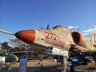 Israel Air Force Skyhawk IAF museum at Hatzerim Airbase