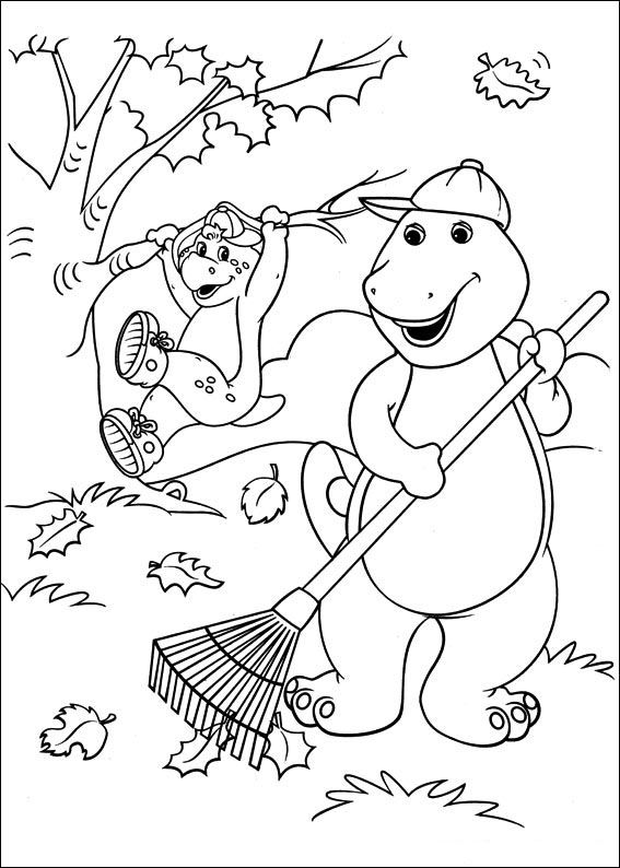 Best Barney Coloring Book 86 Barney and Friends coloring