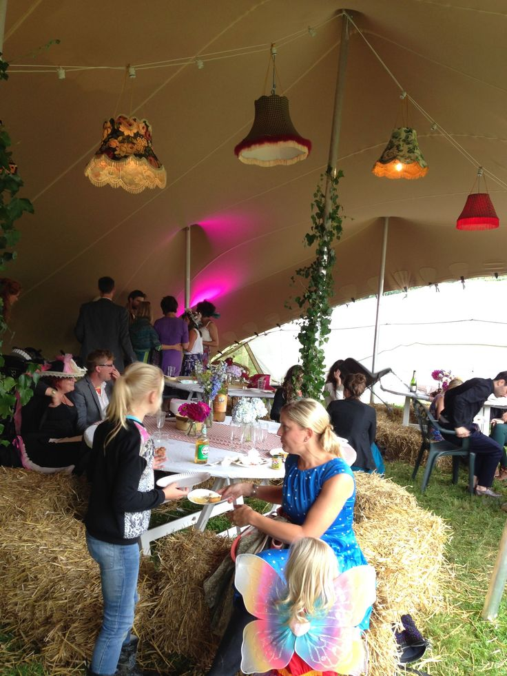 Funky Handmade Lampshades in a Stretch Tent