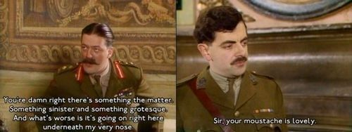 """Stephen Fry also had a damn fine 'tasche.   Community Post: 21 Reasons """"Blackadder"""" Is The Best And Most Culturally Important Show Britain Has Ever Made"""