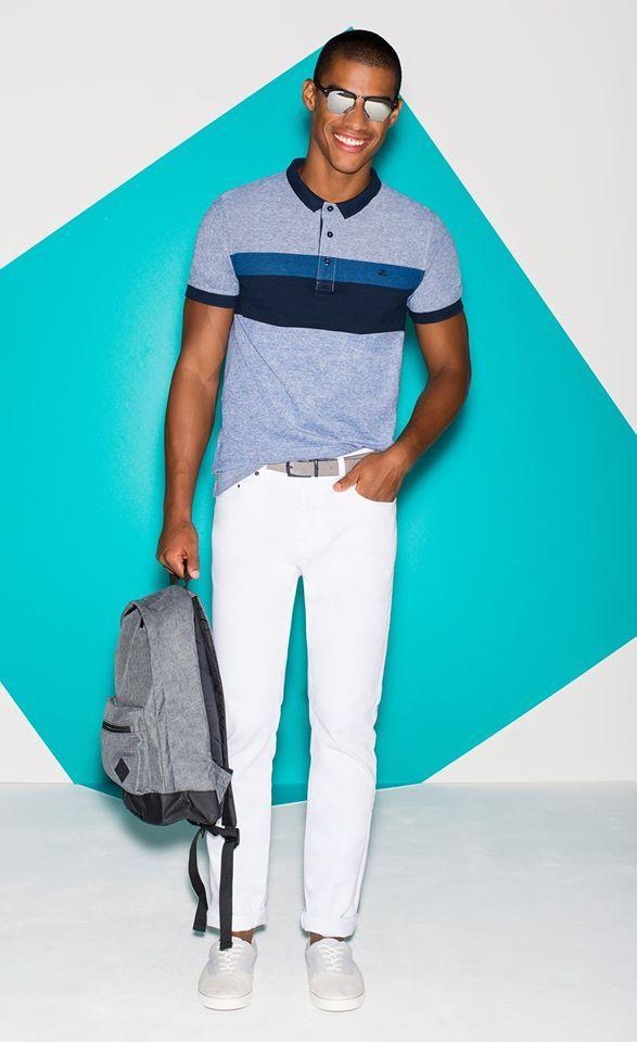 Catálogo Jules 2016: Camiseta oscura combinada con pantalón claro