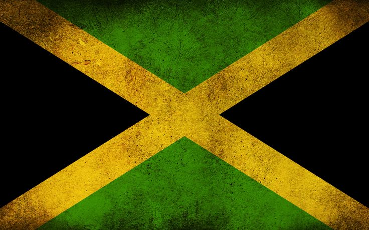 Jamaican Flag | Adopted on August 6, 1962, the day it won its independence from the British-the top and bottom are equal green triangles, the left and the right triangles are black in color. The flag has Pan-African colors, each of which venerates Jamaica's African legacy-green is the symbol of hope and agricultural abundance, the yellow is representative of natural resources and sunshine, and Black stands for creativity and courage of the people.