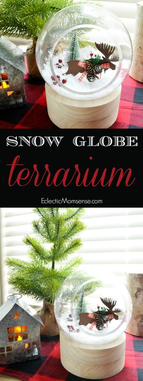 Winter Terrarium- Winter scene snow globe terrarium