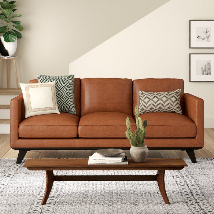 Norvin Leather Sofa With Images
