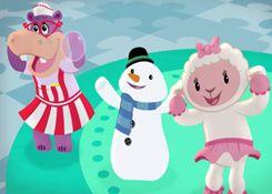 DoctoraJuguetesJuegos.com - Juego: Rompecabezas Hallie, Friolín y Lambie - Juegos de Puzzles de Doctora Juguetes Disney Jugar Gratis Online
