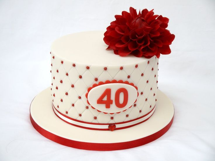 Ruby Wedding Cake! - For all your Ruby Anniversary cake decorating supplies, please visit http://www.craftcompany.co.uk/occasions/anniversary/ruby-wedding-anniversary.html