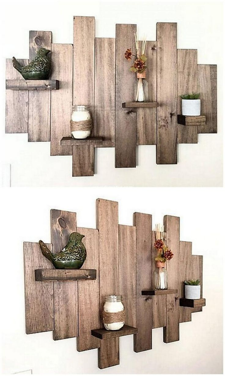Wooden transport pallets have become increasingly popular for diy - Creative Shelving Ideas With Reclaimed Wooden Pallets