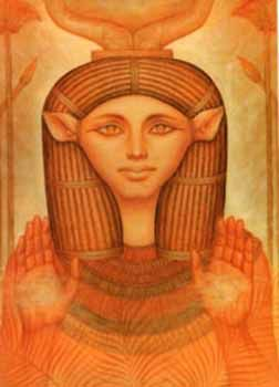 In Egyptian mythology, Hathor (Egyptian for House of Horus) was originally a personification of the Milky Way, which was seen as the milk that flowed from the udders of a heavenly cow.