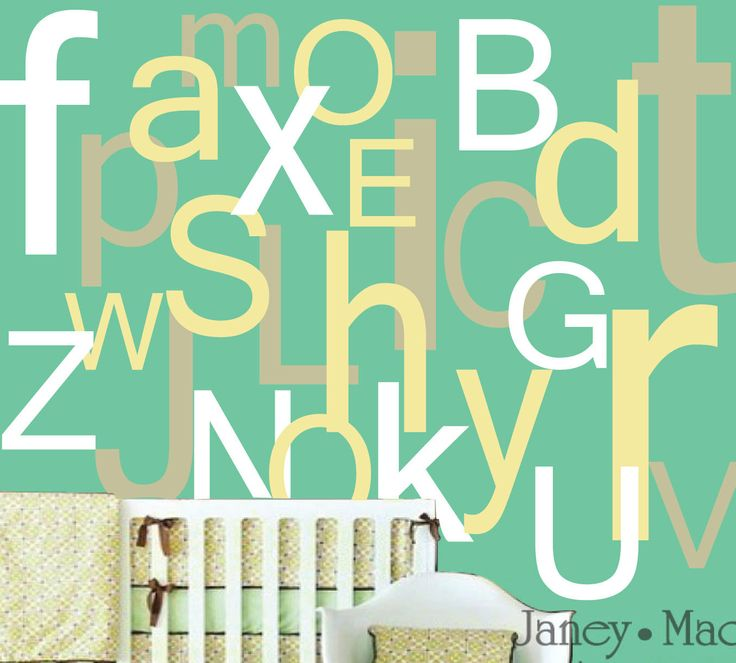 Nursery Wall Decal Large Alphabet   Extra Large Oversized A To Z   Vinyl  Wall Art Part 70