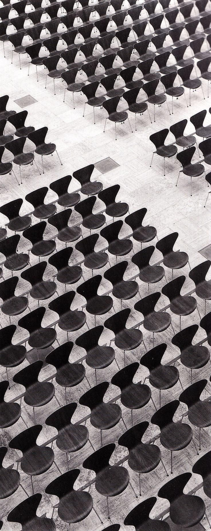 Arne Jacobsen's Series 7 chairs in Gentofte City Hall, Denmark