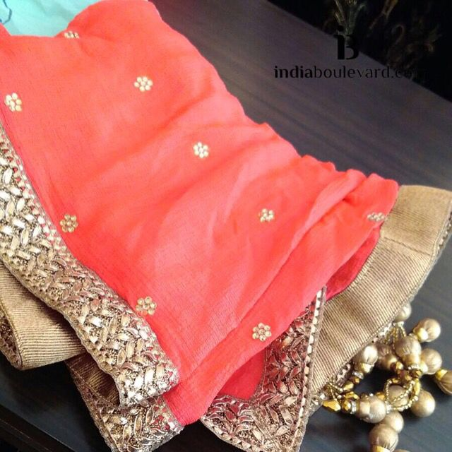 Cute little latkans, pretty colour and of course stunning embroidery. A sweet chic dupatta #behindthescenes to a lovely outfit we are working on.   For all prices and inquries, please email us at inquiries@indiaboulevard.com or visit us at indiaboulevard.com   #indiancouture #desicouture #indianwear #desifashion #indianfashion #fashionista #customindianwear #allthingsindian #newdesigners #lehenga #bridal #indianembroidery #couture #ootd #aw15 #igers #instagood #asianbride #bollywood #winter