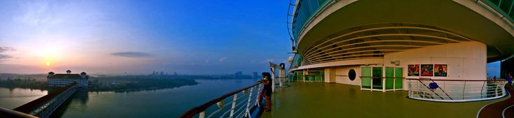 Just got back from my trip and caught the most beautiful sunrise on Mariner of the Seas, docked at Port Klang, KL