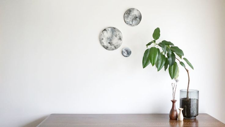Lunar tiles looking pretty above the sideboard   http://www.thegreenlamb.com.au