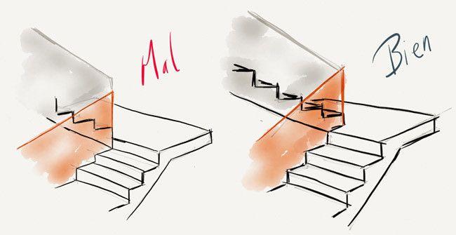 escaleras bien dibujadas