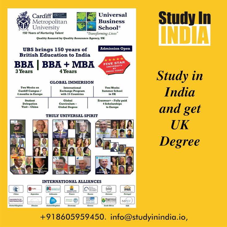 #StudyinIndia and get #UKDegree #StudyAbroad #HigherEducation #Abroad in #India get international experience in #India at low cost #Study #BBA #MBA #Management #Business  #ScholarshiptoStudyAbroad #StudyinUK #UKStudyAbroad #UniversalBusinessSchool #Cardiffuniversity #Cardiff visit us on www.studyinindia.io