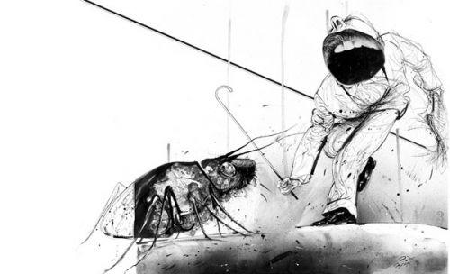 """""""La metamorfosis"""" cumple cien años. Ilustración de Luis Scafati"""