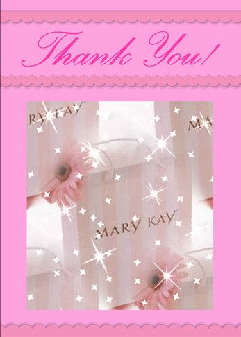 Perfect card to say Thank You for your Mary Kay order, thank your hostess for hosting a party in her home, or for a referral. Click on the image to send this card free.