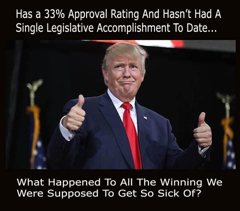 If this is Trump winning, I wonder how he defines losing. I mean sure, he's winning at being a corrupt, kleptocratic, nepotistic authoritarian able to delude millions, attract and unify extremist elements of American society representing h groups with a long and bloody history of terrorism, and at destroying democracy, but going by the usual standards for presidential accomplishments, remarks, behavior, transparency, accountability, competency, and stability, he's an utter and complete…