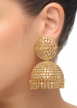 Crystal Big Jhumka Earrings
