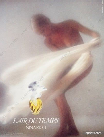 Нина Риччи (Парфюмы) 1984 L'Air du Temps, Дэвид Гамильтон, топлесс