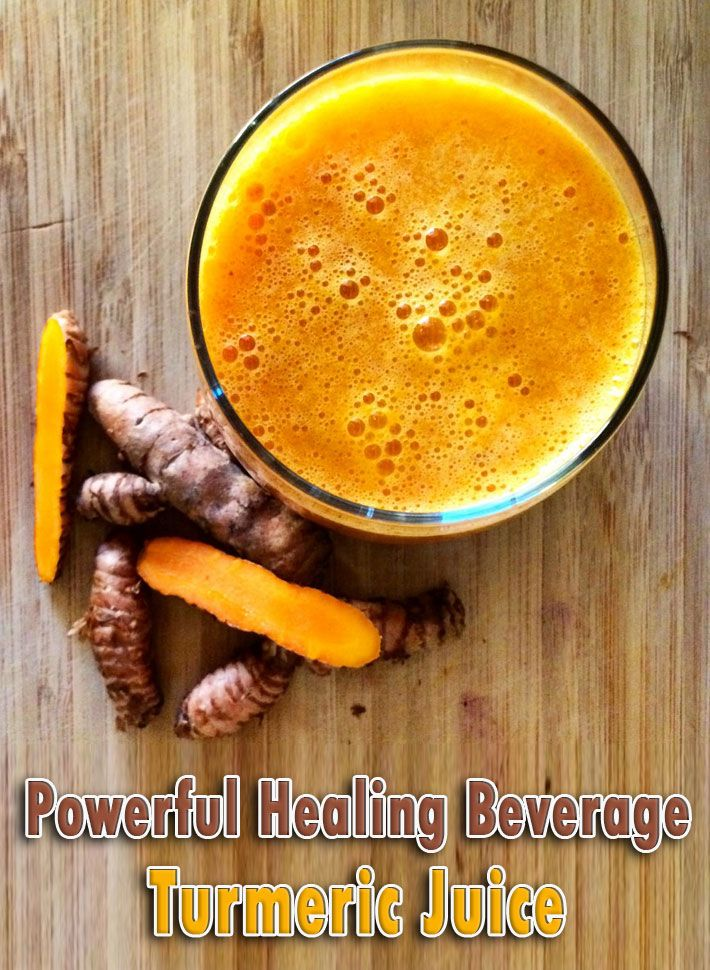 A Powerful Healing Beverage Turmeric Juice recipe. Turmeric prevents metastases from occurring in many different forms of cancer.Turmeric's also a natural..