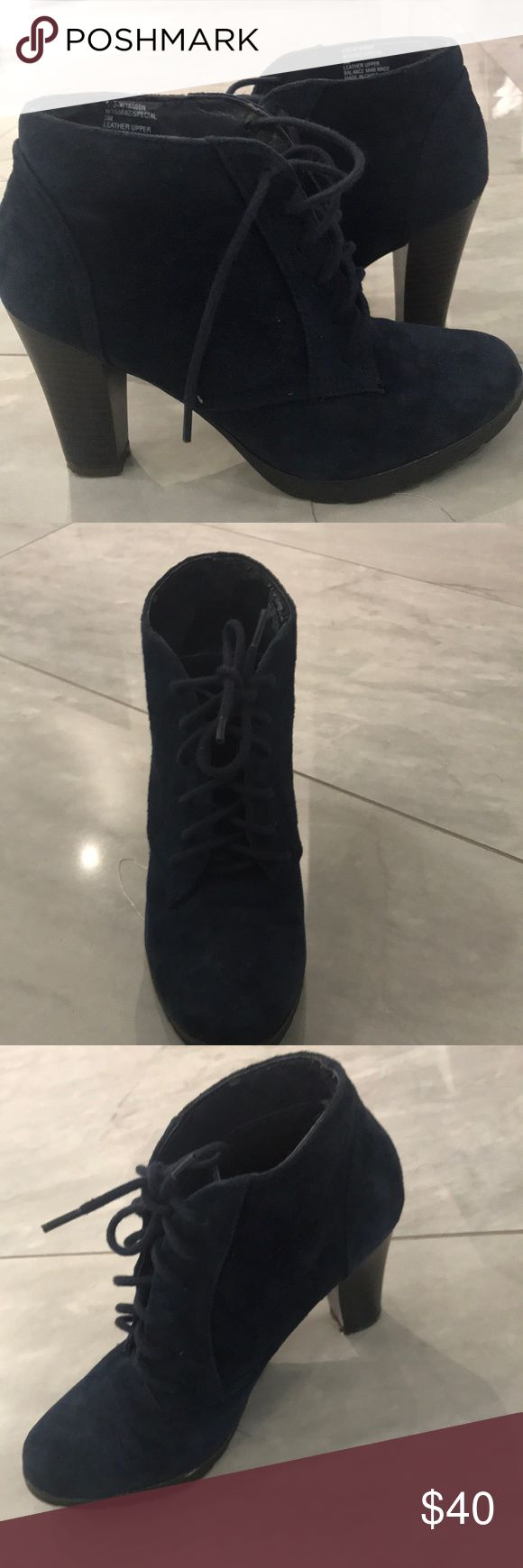 White Mountain Boots Dark blue booties (one time wear), 5M, very comfortable White Mountain Shoes Ankle Boots & Booties