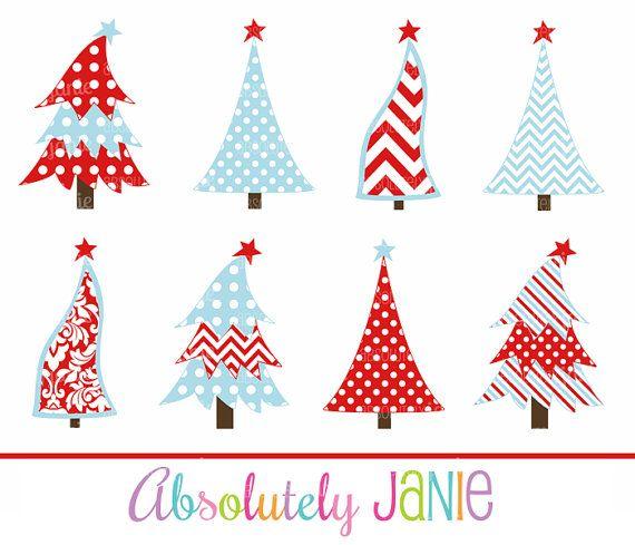 whimsical christmas tree clip art free - photo #5
