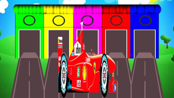 Colors for Children to Learn with F1 Cars Vehicles