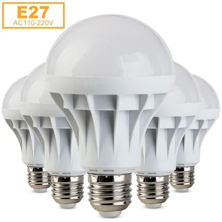 E27 מנורת LED SMD 5730 Lamparas Bombillas LED אור 1 W 3 W 5 W 7 W 9 W 12 W 15 W Lampada LED נר הנורה E27 110 V 220 V אמפולה נוריות לוז