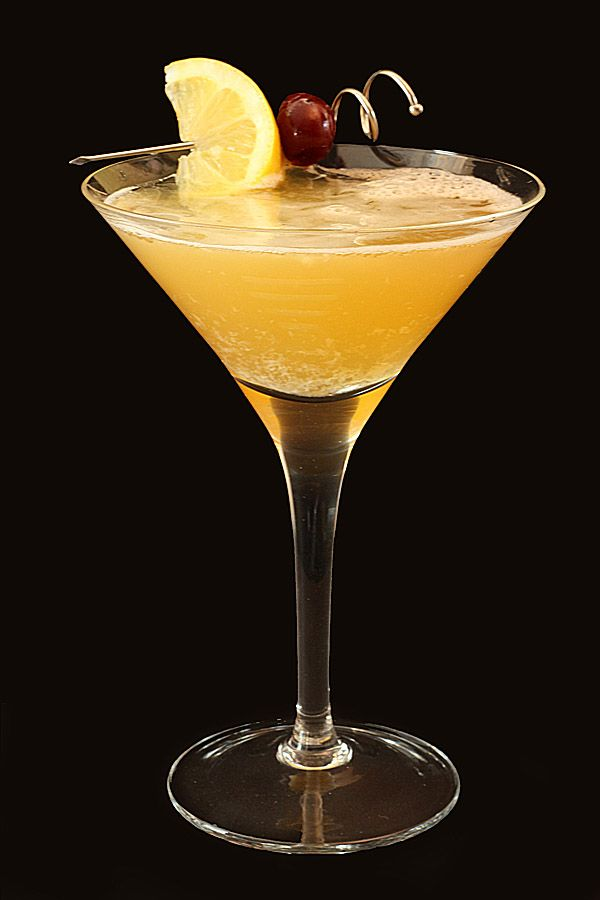 Whiskey Sour.  A very sneaky and delicious drink.  I like how this recipe does not use sour mix.