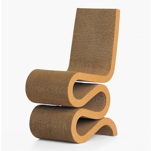 Frank Gehry is known for some great furniture design, for instance the Vitra Wiggle Chair see below. Can you believe that this chair is made from compressed cardboard!