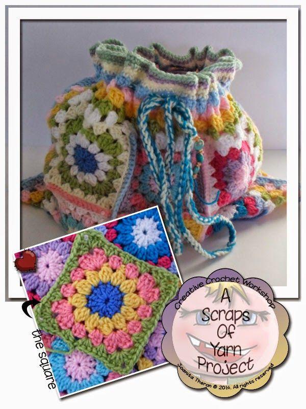 Crochet Craft Bag : Creative Crochet Workshop: Craft Bag Purses ~ Bags ~ Totes ~ Croche ...