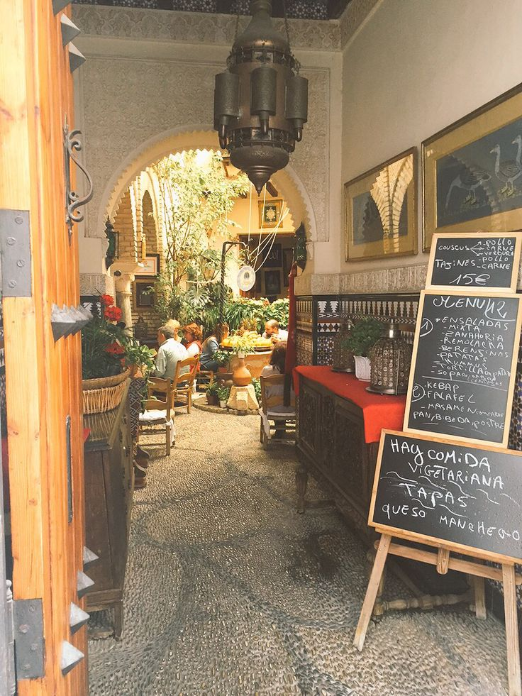 Teterías, or Arabic tea houses in Córdoba are amazing. The teterías will generally have large patios typical of Andalucia so you can enjoy your tea and a baclava or two in beautiful surroundings.  http://travel-ling.com