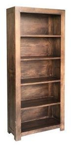 Solid dark mango wood bookcase (Large) from Scape Interiors West