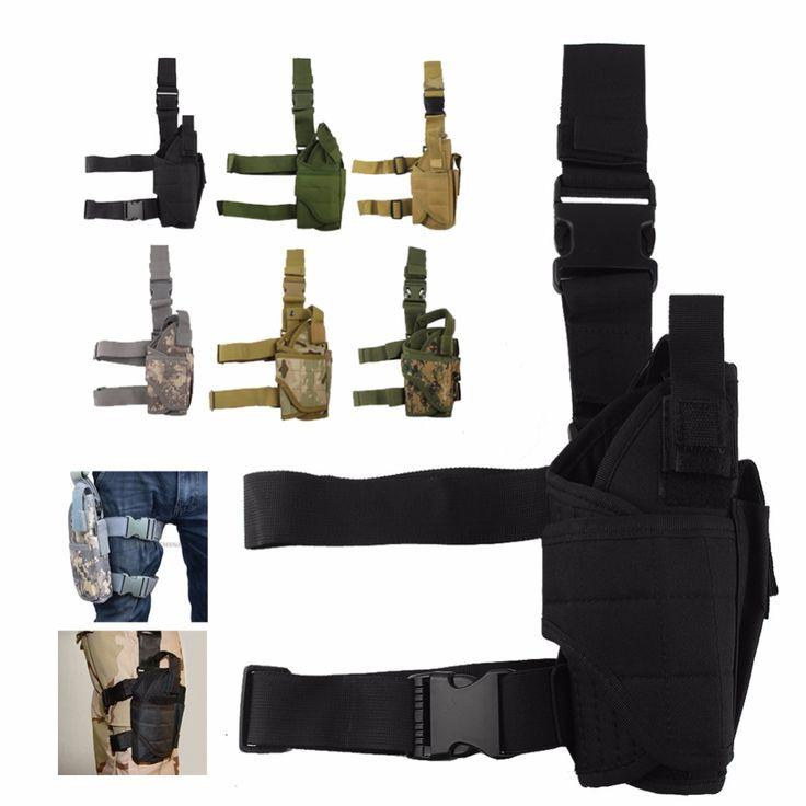 Étui universel Molle Pistolet En Plein Air Tactique Leg Holster Pistolet/Pistolet de Jambe de Baisse Holster de Cuisse 31-0009