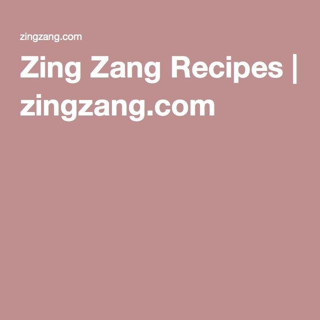 Zing Zang Recipes | zingzang.com Gotta give the chili a try