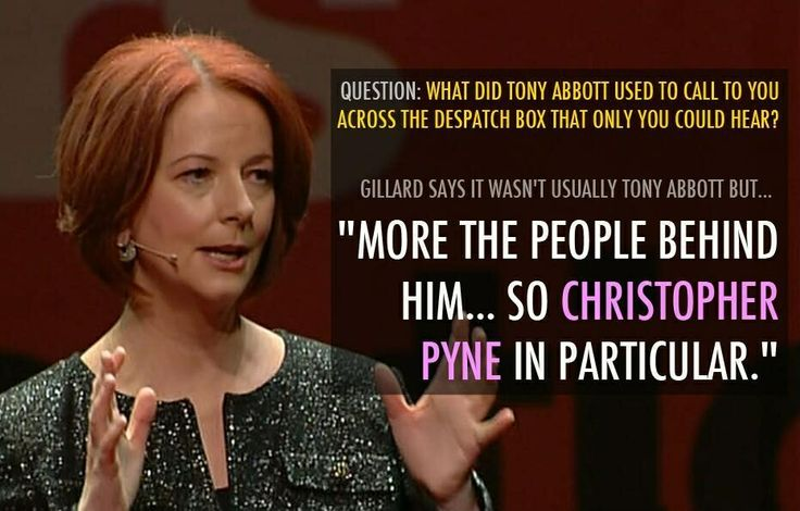 Really missing you, JG!! So Christopher Pyne is a serial abuser of his fellow Parliamentarians. Kick the bugger out.
