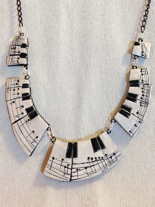 Polymer clay, Chopin Neklace | da Cecilia, ImpastArte