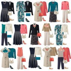 plus size capsule wardrobe - Don't like the coral