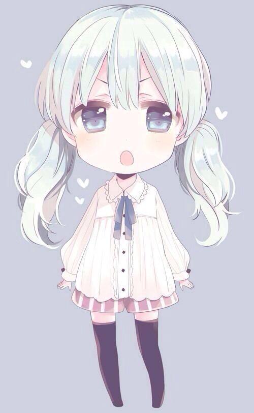 grafika anime, chibi, and girl