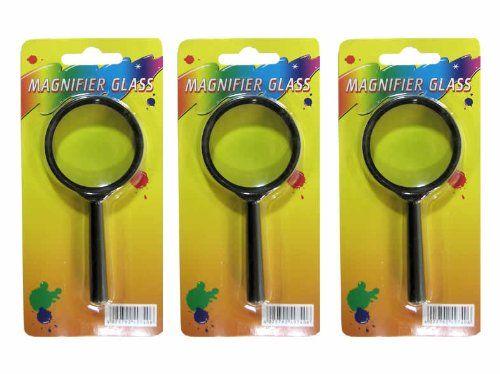 Fancy er Set Lupe Vergr erungsglas Kunststoffrahmen mm im Griff mm lang