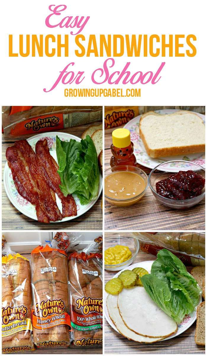 Tired of sending the same boring sandwiches for lunch? Spice things up with these fun lunch sandwich ideas for school lunches! Pick your favorite @naturesownbread and build your new favorite sandwich! Ad #LunchBoxCreations